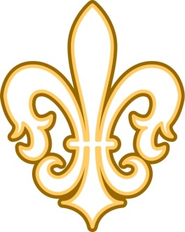 Gold and Brown Fleur de lis