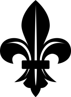 Fleur de lis with White Lines