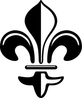 Contrasting Fleur de lis