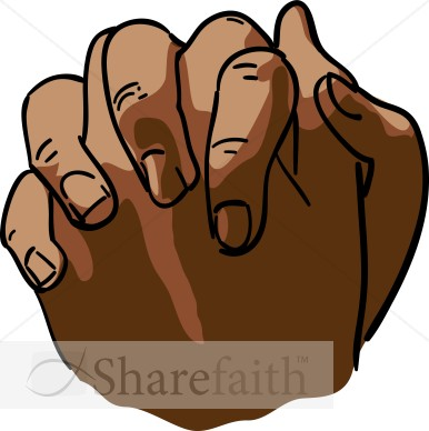 African American Clasped Hands | Prayer Clipart
