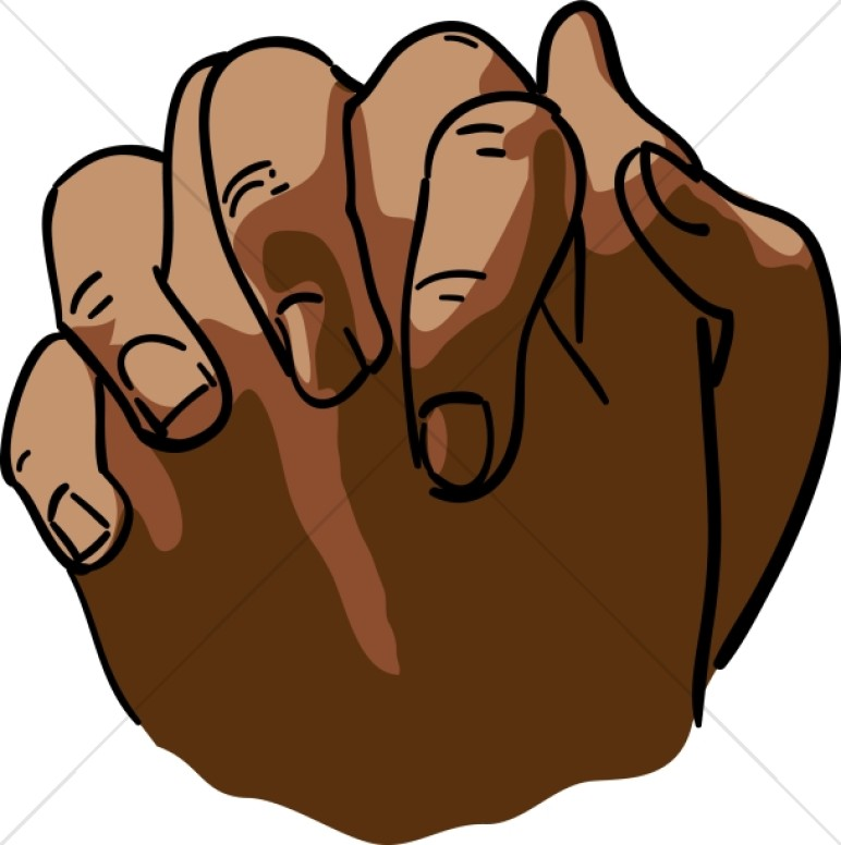 African American Clasped Hands