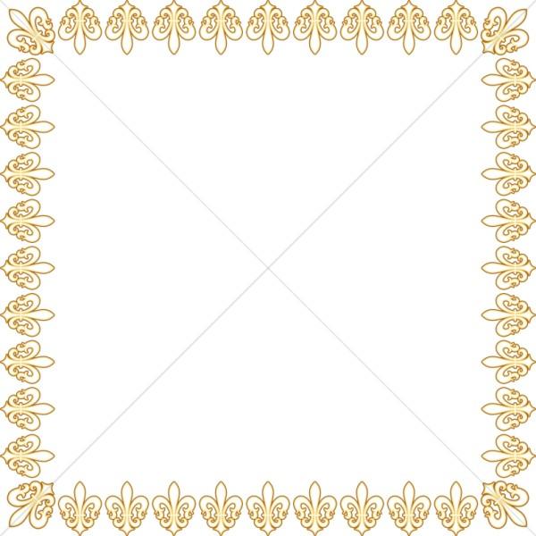 Golden Fleur De Lis Square