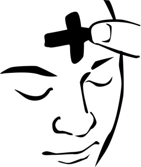 Ash Wednesday Face Clipart