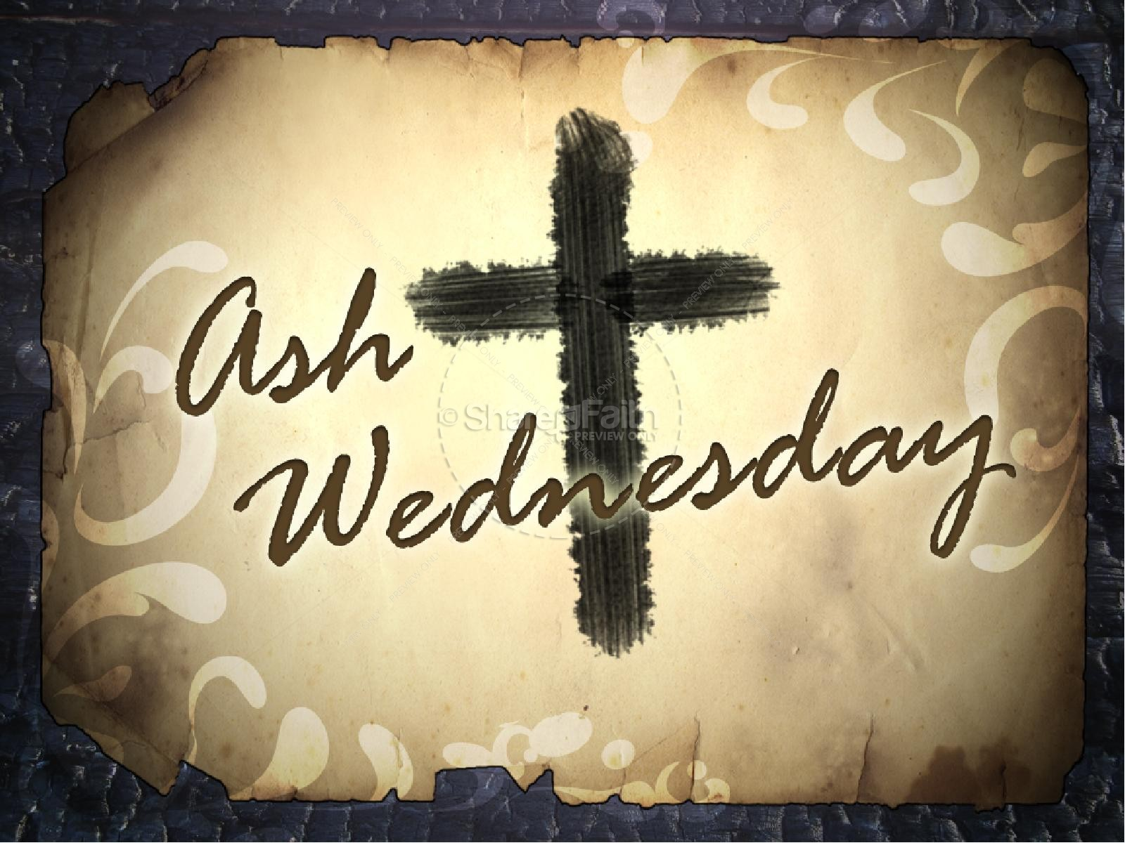 Ash Wednesday with Cross