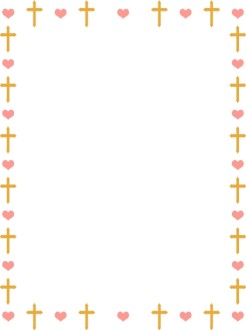 Heart and Gold Cross Border