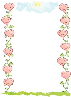 Smiling Hearts Border