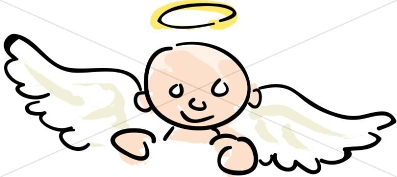 Nursery Clipart Baby Angel