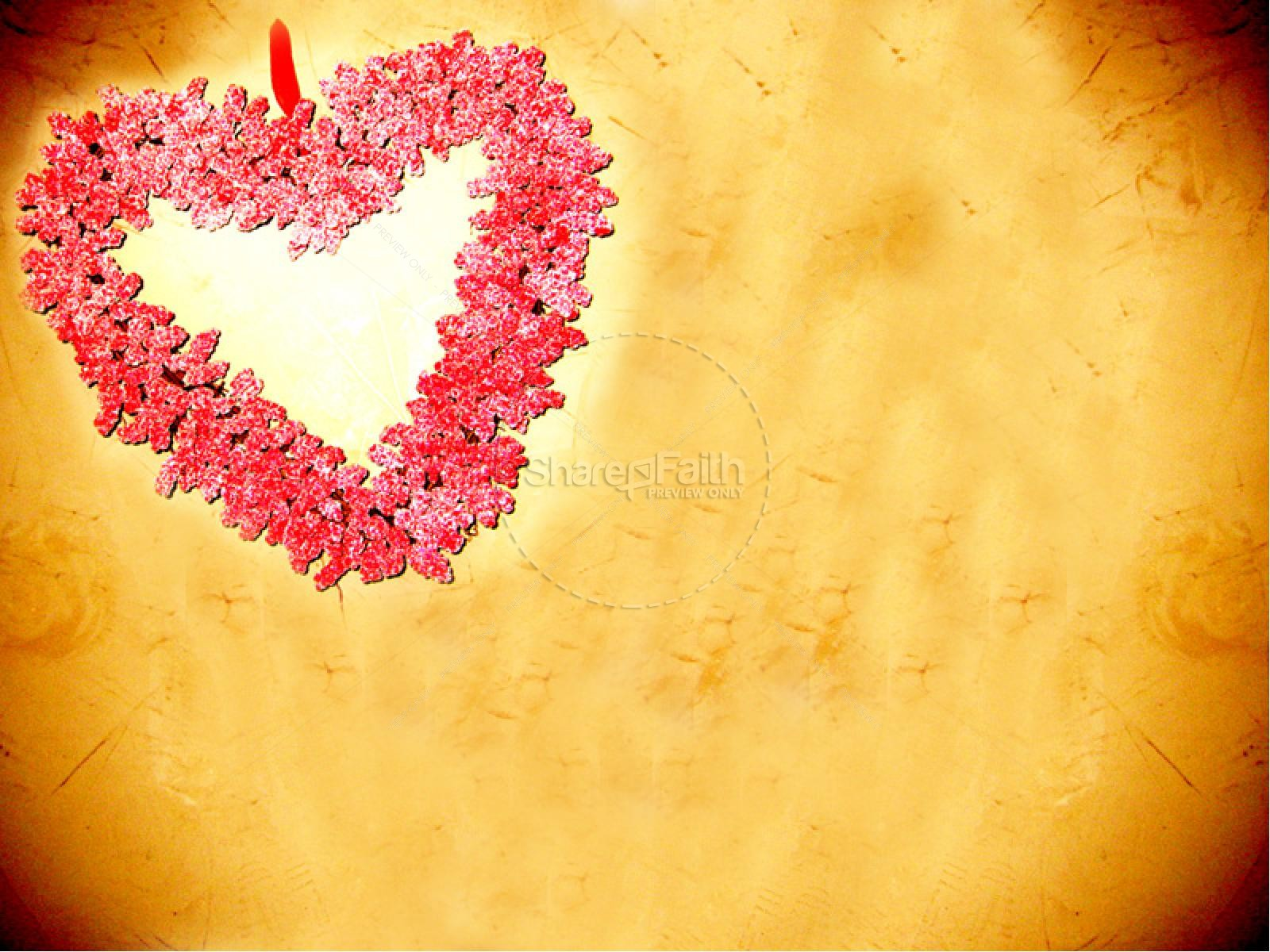 Love with Red Heart Flowers | slide 4