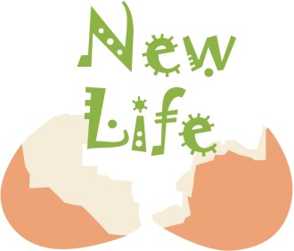 New Life and Broken Egg Shell