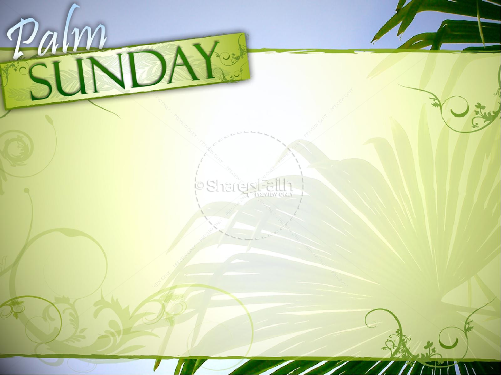 Palm Sunday with Blue Sky
