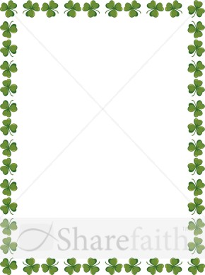 Shamrocks On The Page Religious Borders