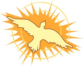 Soaring Dove with Gleaming Light