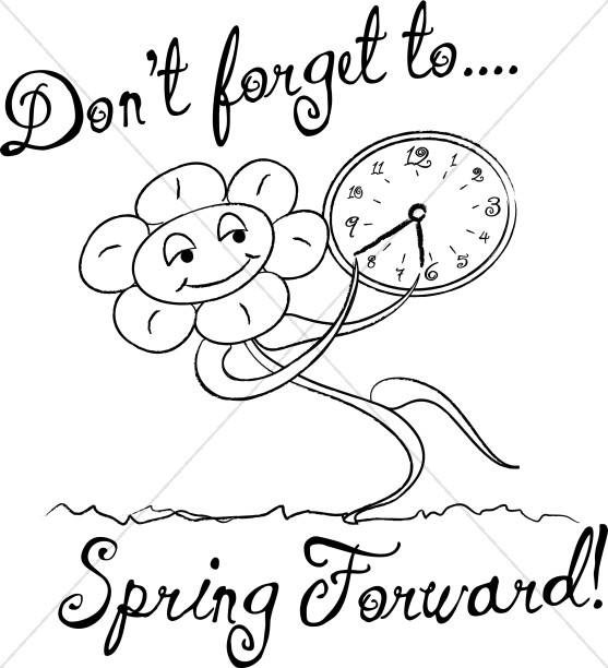 Spring Forward with Words in Black and White