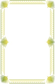 Palm Sunday Bulletin Border