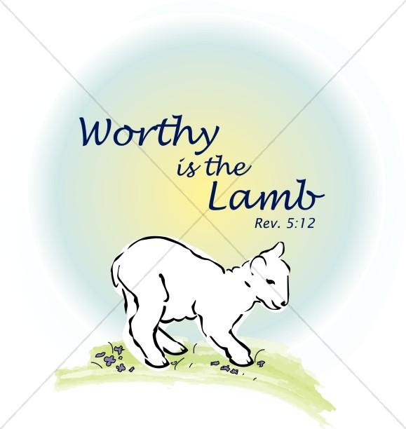 Lamb with Pastel Circle