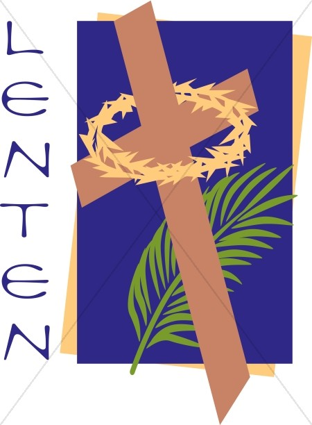 Lenten with Cross and Palm