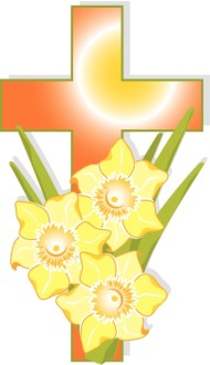 Organge Cross with Yellow Flowers