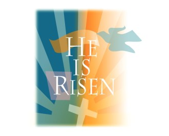 He Is Risen with Cross and Dove