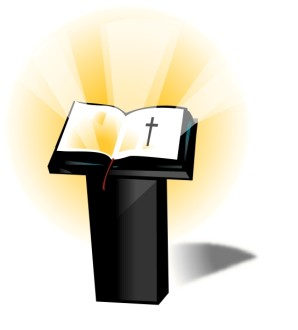 Podium and Open Bible