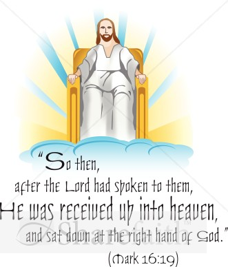 Jesus Seated in Heaven