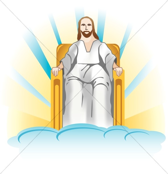 Jesus Seated Clipart
