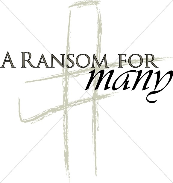 Brushstroke Cross with A Ransom for Many
