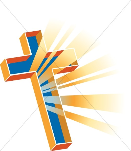 Multidimensional and Colorful Cross with Rays