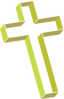 Multilevel Cross in Lime Green