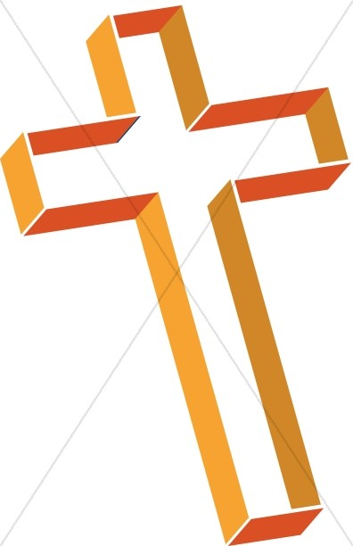 Multilevel Cross in Shades of Orange