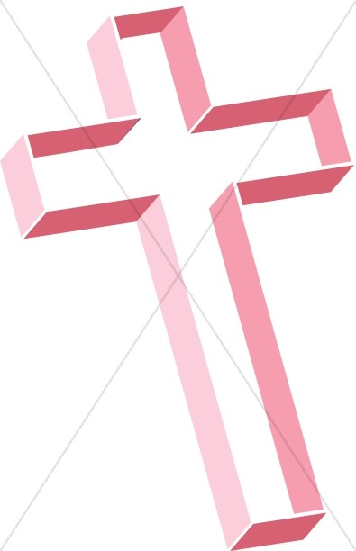 Multilevel Cross in Shades of Pink
