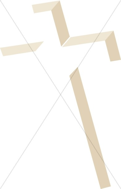 Inlay Cross in Shades of Brown