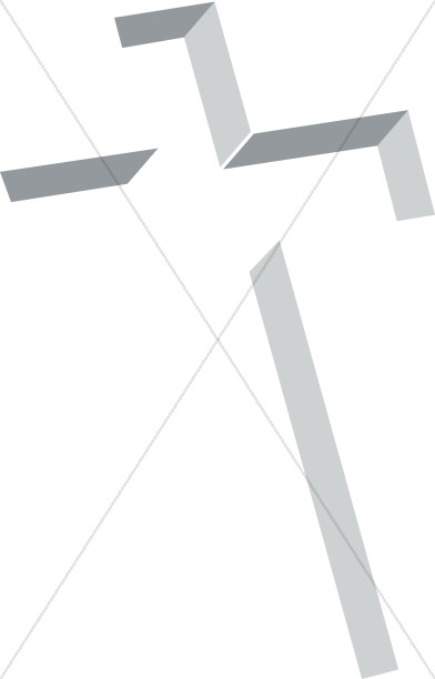 Inlay Cross in Shades of Gray
