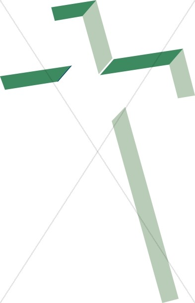 Inlay Cross in Shades of Green