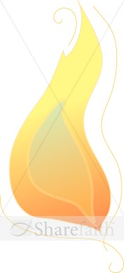 The Flame in Yellow and Orange