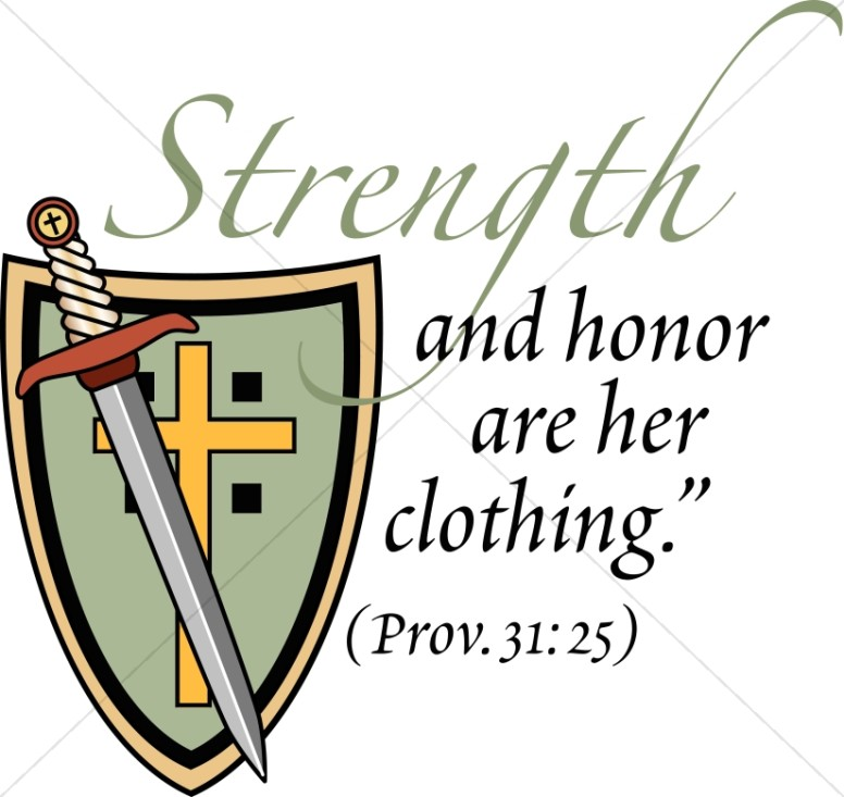 Strength and honor with Proverb