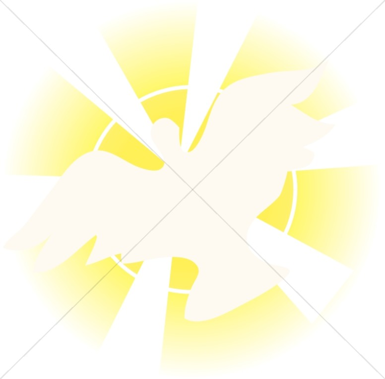 Dove with Rays Ascending