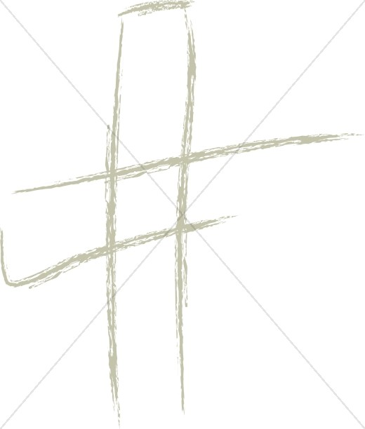 Brushtroke Modern Cross