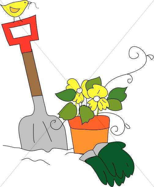 Fun Gardening Scene