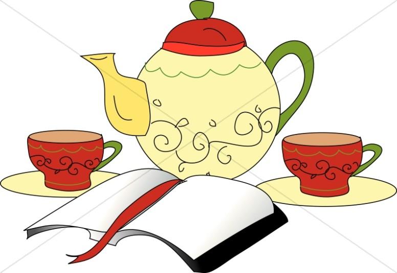 Bible and Tea Set