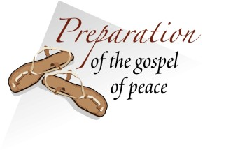 Sandals with Gospel of Peace