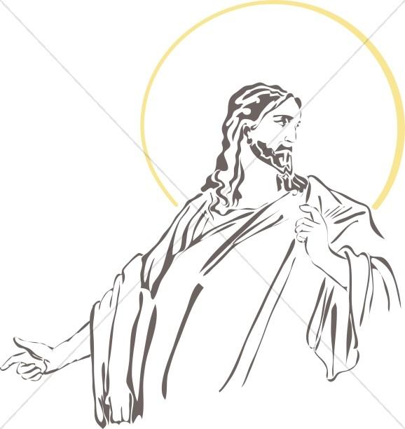 Jesus Looks Back