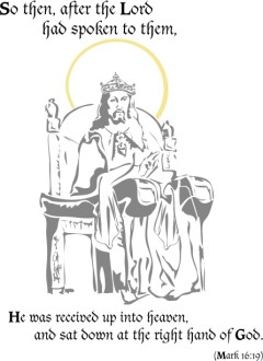 Jesus Seated Next to God