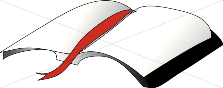 Simplistic Bible with Red Ribbon