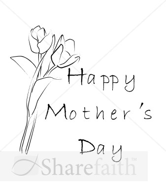 mothers day flowers in black and white mothers day word art May Day Clip Art Cinco De Mayo Clip Art