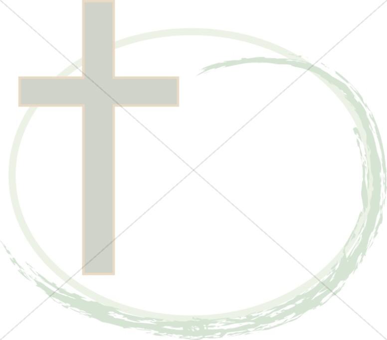 Cross with Oval Brushstroke
