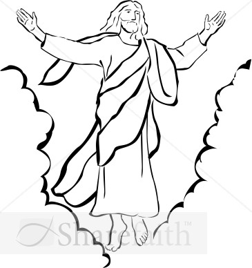 Ascension of Our Lord Christian Clipart | Ascension Day Clipart