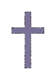 Purple Textured Cross