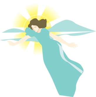 Angel Announcing Clipart