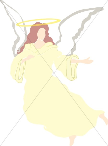 Yellow Angel with Halo