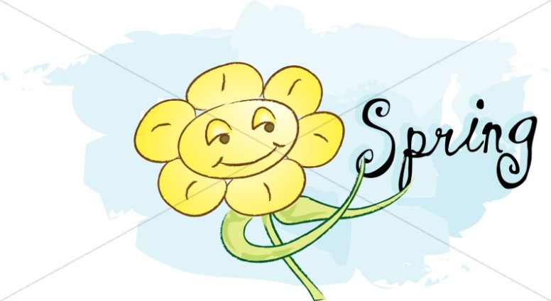 Smiling Flower and Spring